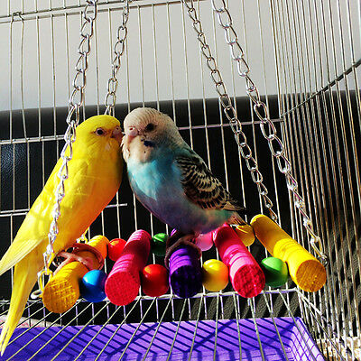 Cage Hammock Swing Hanging Chew Toy Pet Bird Parrot Parakeet Budgie Cockatiel