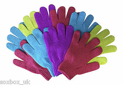 3 & 10 Pack Exfoliating Scrub Gloves Various Colours Available