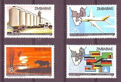 Zimbabwe 1986 Southern Africa Developement set of 4