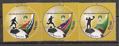 Zambia 2010 FIFA World Cup set of 3