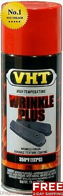 Vht Wrinkle Plus Red Spray Paint Coating Can Auto Car Valve Cover Heat Resistant