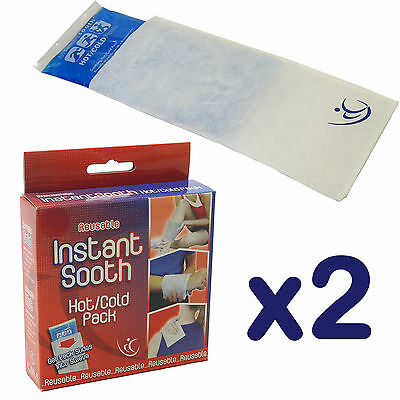 Twin Pack of CMS Quality Multi Use Transparent Hot/Cold Packs + Protective Cuff
