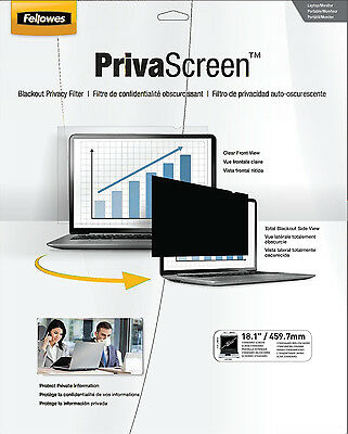 """Brand New Fellowes 48004 Blackout Privacy Screen 18.1"""" Standard 11.4"""" x 14.1"""""""