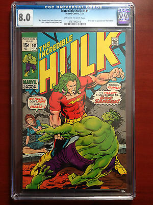 Incredible Hulk #141 ~ Cgc 8.0 ~ Origin And 1St Appearance Of Doc Samson!