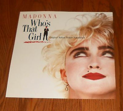 Madonna Who's That Girl Soundtrack Poster 2-Sided Flat 1987 Promo 12x12