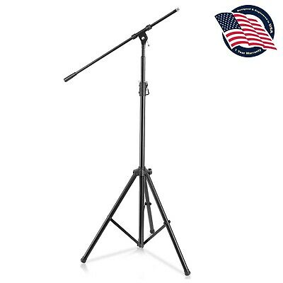 NEW Pyle PMKS56 Heavy-Duty Tripod Microphone Mic Stand Height & Boom Adjustable