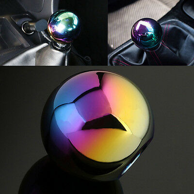 Neo Chrome Round Ball Style 5 SPeed Manual MT Shifter Shift Knob Fit Universal 3