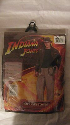 Halloween Costume Indiana Jones Adult Standard Fits Up To Jacket Size 44 NEW h20