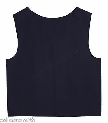 Navy Cotton / Polyester Twill Patch Vest YMCA Guides Cub Scout Award Club