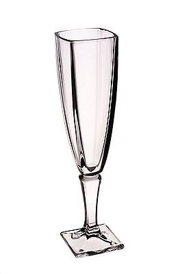 Set of 6 Bohemia Crystal Clear Champagne Glasses