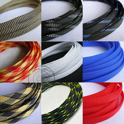 12mm New Tight Braided PET Expandable Sleeving Cable Wire Sheath (24 Color)