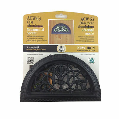 Nuvo Iron HALF ROUND DECORATIVE GATE FENCE INSERT ACW63 Fencing,Fence,Gates,Home