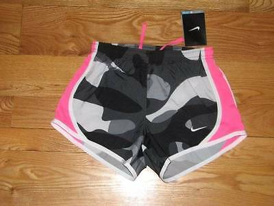 NEW Nike Little Girls Tempo Dri Fit Running Shorts Size M Medium MED Camo Pink