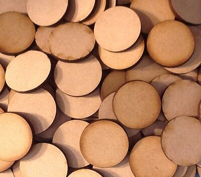 20x 25mm Round MDF Wooden Bases Laser Cut Circles Crafts FAST SHIPPING US SELLER