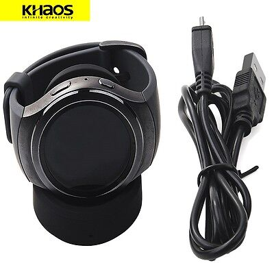 Qi-Wireless Charging Dock Cradle Charger Holder For Samsung Gear S2 SM R720 R732
