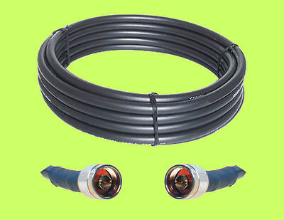 75 ft LMR600 compatible RFC600 Coax 50 Ohm CB Ham Extension Cable with N Male