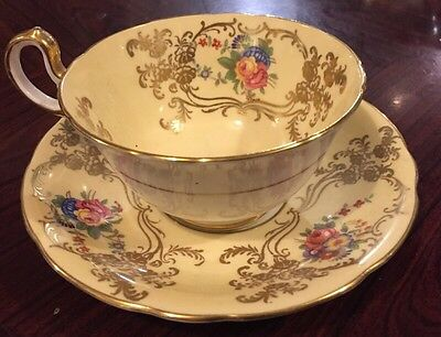 Lovely Aynsley Cup And Saucer With Beautiful Floral Design