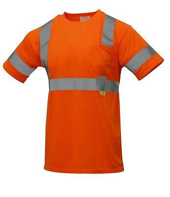 Hi Vis T Shirt ANSI/ISEA Class 3 Work Safety Short Sleeve, Orange/Lime -S9081/2