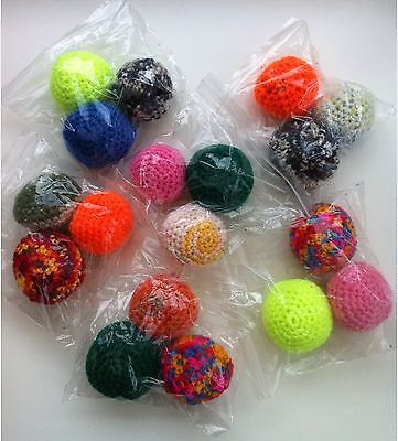 Pack Of 3 Catnip Knitted Balls - Mix Colours (Sold For Cats Protection)