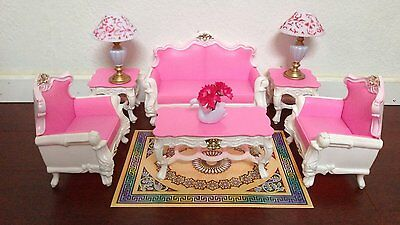 Deluxe Gloria Barbie Sized Deluxe Living Room Furniture & Accessories Playset.
