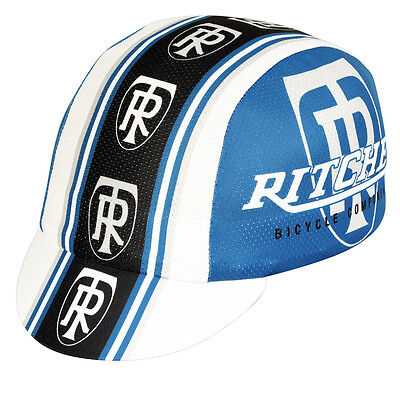 NEW Pace Ritchey TR CoolMax Cycling/Bicycle Cap - White/Blue/Black - Made in USA