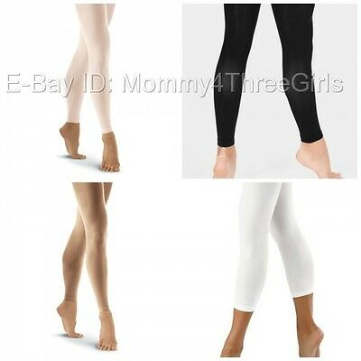 NEW Capezio Bloch Danskin Balera Footless Dance Skating Tights Child & Adult
