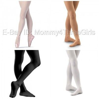 NEW Bloch Capezio Body Wrappers Danskin Footed Dance Tights Toddler & Child Size