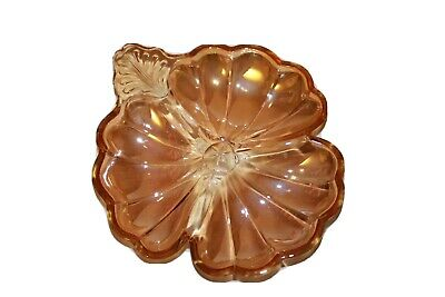 Vintage Marigold Carnival Glass Candy Dish