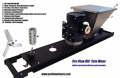 Ibc Tote Mixer With Stainless Steel Hopper