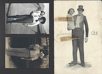 Al & Jeanie Tomaini Circus Sideshow Rare Signed Worlds Strangest Married Couple