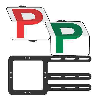 "Provisional Plate Driver ""Rippa"" Pack  Red P and Green P  Plate - Clip Plate"