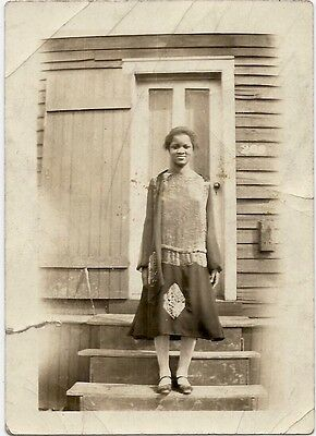 Antinque African American Attractive Woman Old Photo Black Americana