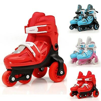 Boy Girl Inline Skates Brake Rollerblade Boot Three-Point Skating Shoes For Kids