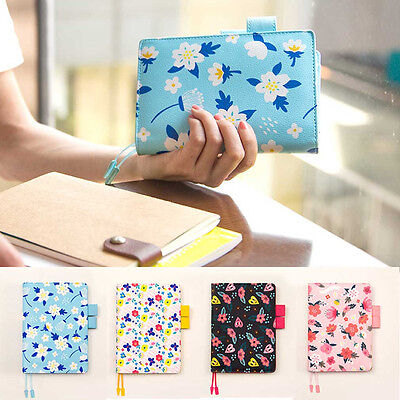 A6/A5 Monthly/Week/Daily Planner Schedule Notebook Diary Leather Flower Note Pad