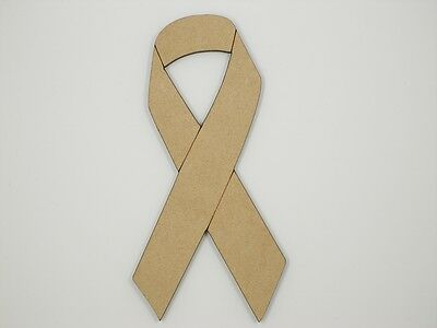 Cancer Ribbon MDF 30cm Tall Wood Craft 3mm MDF Ready To Prime and Paint