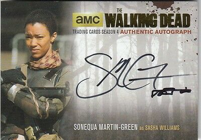 The Walking Dead Season 4 Part 2 Smg2 Sonequa Martin-Green Sasha Autograph Gold