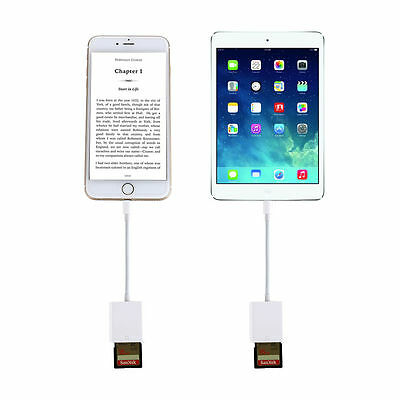 Lightning to SD Card Memory Reader Adapter for iPhone 5S 6S 6 Plus iPad Mini Air