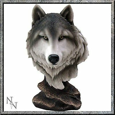 Wolf Bust Statue Noble Wolf Head Figurine Hand Painted Ornament