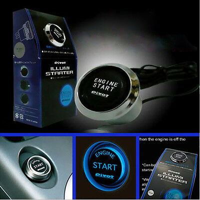 Universale 12V Car Engine Start pulsante interruttore accensione avviamento LED