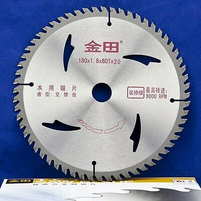 """7"""" inch 180 x 60T x 20mm Woodworking Carbide Tipped Circular Saw Blades for Wood"""