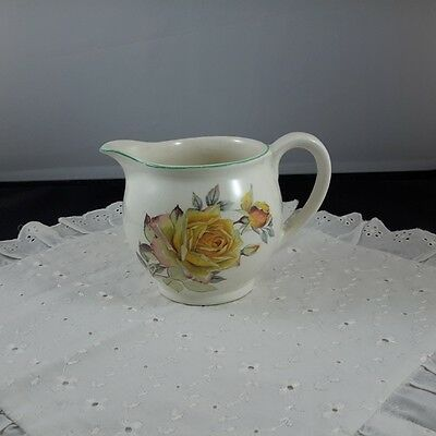 Gorgeous Shabby Vintage Yellow Rose Jug Creamer Lord Nelson Ware