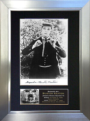BUSTER KEATON Signed Autograph Mounted Reproduction Photo A4 Print no20