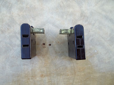 Two Brown Bakelite Surface Mount Triplex Outlet / Recepticle, Tested, Free S/H