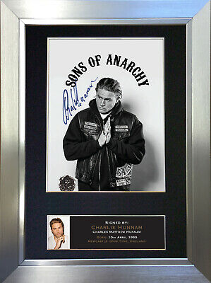 CHARLIE HUNNAM SOA Signed Autograph Mounted Reproduction Photo A4 Print no589