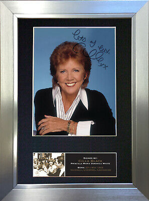 CILLA BLACK Signed Autograph Mounted Photo Reproduction A4 Print 545