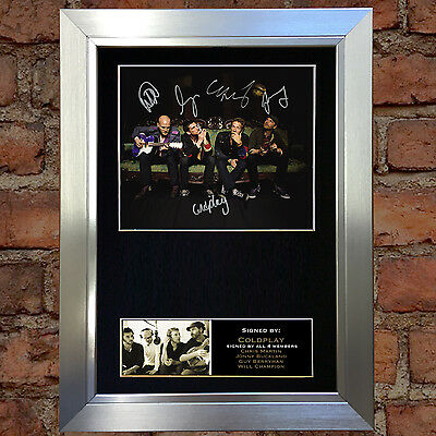 COLDPLAY Signed Autograph Mounted Photo Reproduction A4 Print 190