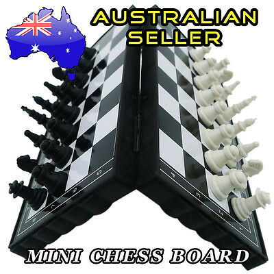 Travel Mini Foldable Magnetic Chess Board Set Vacation Pocket