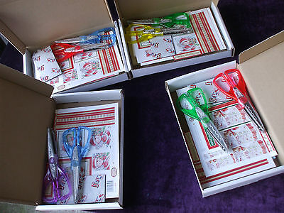 Lot of 4  Christmas Card making Craft Kits with scissors A5 size