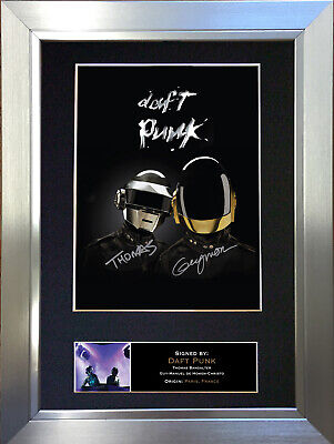 DAFT PUNK Signed Autograph Mounted Photo Repro A4 Print 353