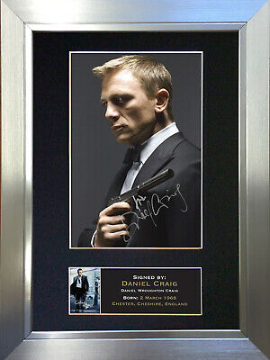 DANIEL CRAIG Signed Autograph Mounted Photo Reproduction A4 Print 26